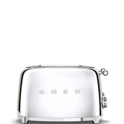 50's Retro 4 slice toaster - 4 slot, chrome