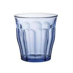 Picardie Marine Set of 6 glass tumblers, D9 x H9.4cm - 31cl, marine glass