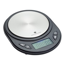 Electronic compact scales, 10 x 13cm - 750g, black