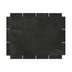 Basket Rug, 240 x 185cm, dark grey