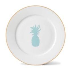 Pineapple Side plate, 21cm, gold rim