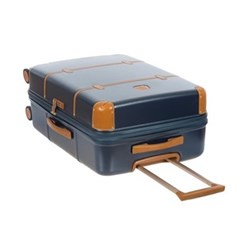 Bellagio 4 wheel cabin trolley, W38 x H55 x D20cm, blue/tobacco