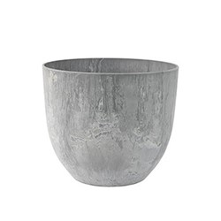 Bola Plant pot, H24 x D28cm, Grey