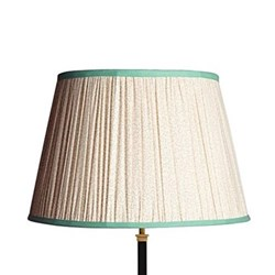 Straight Empire Lampshade, 45cm, aqua squiggles