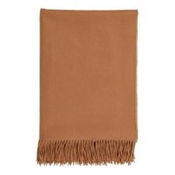 Plain Cashmere throw, 190 x 140cm, dark camel