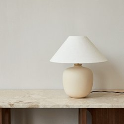 Torso Table lamp, H37 x D35cm, Sand
