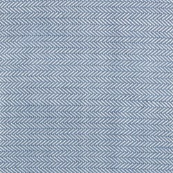 Herringbone Woven cotton rug, W244 x L305cm, denim/ivory