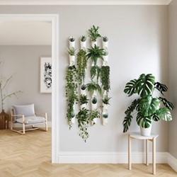 Floralink Air planter, 69 x 10 x 10cm, white