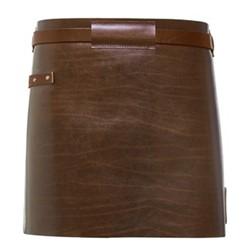 Waist Down Collection Short apron, H40 x W62cm, dark brown