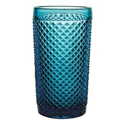 Bicos Set of 4 highballs, H14cm - 33cl, blue