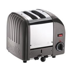 Classic Vario 2 slot toaster, metallic charcoal