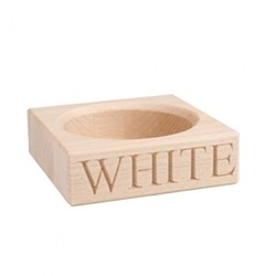 White Wine bottle holder, 3 x 10.5 x 10.5cm, beech wood