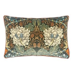 Honeysuckle & Tulip Velvet Cushion, W40 x L60cm, grey