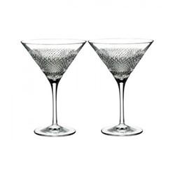 Diamond line Pair of martini glasses