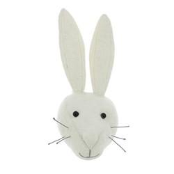 Mini wall mounted rabbit head, H30 x W18 x D12cm, white
