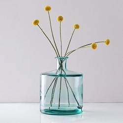 Soho Bottle glass vase, H26 x D21cm, recycled glass