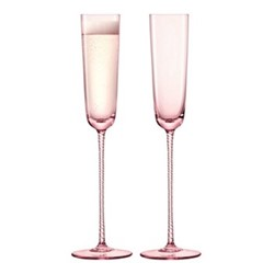 Champagne Theatre Pair of champagne flutes, 120ml, dawn pink