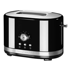 Manual Control 2 slot toaster, onyx black