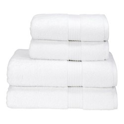 Supreme Hygro Pair of bath towels, 75 x 137cm, white