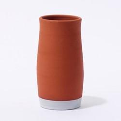 Terracotta by Reiko Kaneko Wine cooler, Dia11 x H21cm, terracotta/white