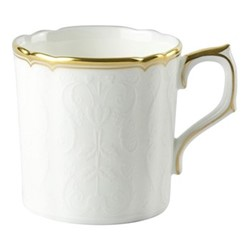 Darley Abbey Pure Gold Coffee cup, H6cm, white/gold