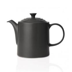 Stoneware Grand teapot, 1.3 litre, satin black