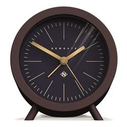 The Fred Alarm clock, H12 x W11 x D7cm, chocolate black