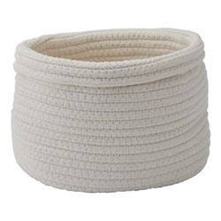 Rena Storage basket, L24 x W18 x H16cm, ivory