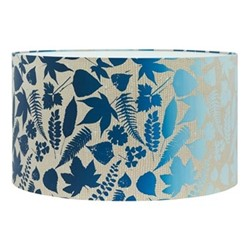 Falling Leaves Extra large lampshade, W45 x H25cm, pebble/midnight ombre