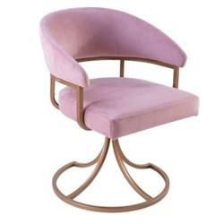 Sherry Chair, W63 x H81 x D64cm, old rose houdini velvet