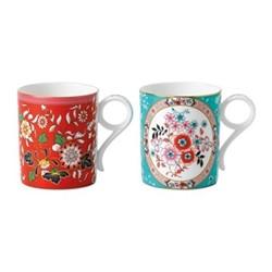 Wonderlust Pair of small mugs, multi
