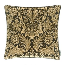 Sunflower Velvet Cushion, W50 x L50cm, green