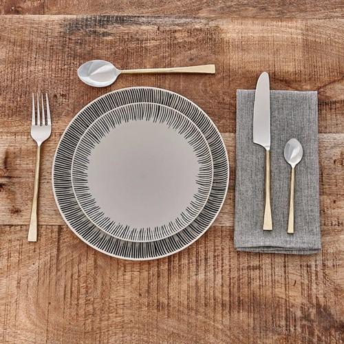 Usa Set of 16 cutlery set, brushed gold