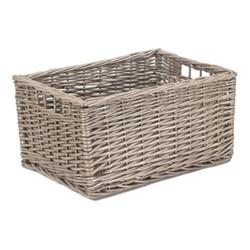 Antique Wash Storage basket, H22 x W30 x L42cm, willow