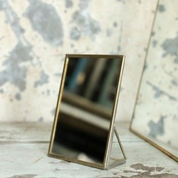 Kiko Standing mirror, 18 x 13 x 5.5cm, antique brass