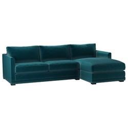 Aissa Right hand chaise sofa, H91 x W239 x D97cm, deep turquoise