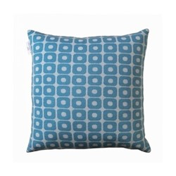 Loom Cushion, 50 x 50cm, blue