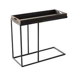 Rectangular tray table, H64 x W70 x D32cm, black