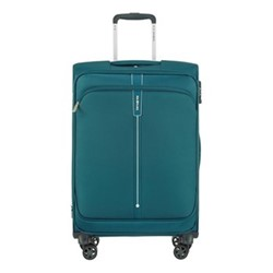 Popsoda Spinner expandable suitcase, 66 x 44 x 28/31cm, teal