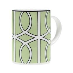 Loop Mug, 10.2 x 7.6cm, apple green/white