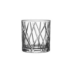 City Set of 4 whiskey glasses, 34cl - H9.1 x W8.6cm, glass