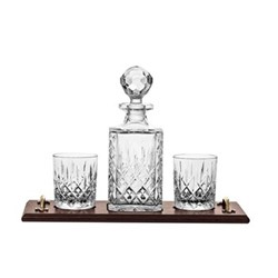 London Whisky tray, decanter and tumbler set