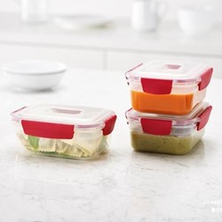 Nest Lock 3 piece container set, 1.1 Litre, red