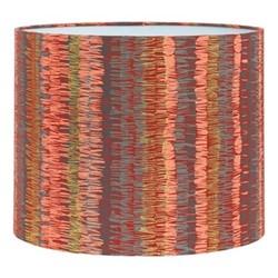 Textured Stripe Drum lampshade, W31 x H24cm, paprika/storm