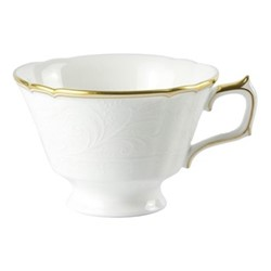Darley Abbey Pure Gold Teacup, H6cm, white/gold