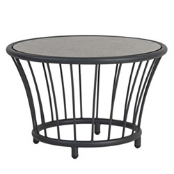 Cordial Round side table, 60cm, grey