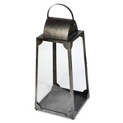 Trapezium Large lantern, H76 x L38 x D38cm, galvanised steel