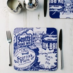 Scottish Breakfast Pair of tablemats, 23 x 23cm