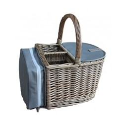 Antique Wash Beach hamper - 2 bottle, L30 x W27 x H24cm, antique wash