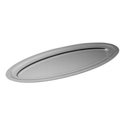 Original Vintage Oval platter, L55 x W24cm, stainless steel